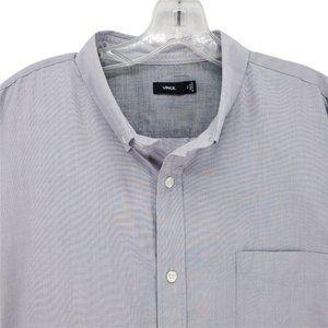 VINCE XL Button Down Shirt Gray Cotton EUC